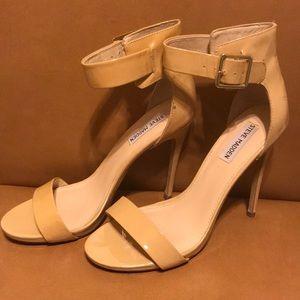Nude heels by Steven Madden